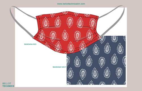 Mascarillas reutilizables higiénicas bandana