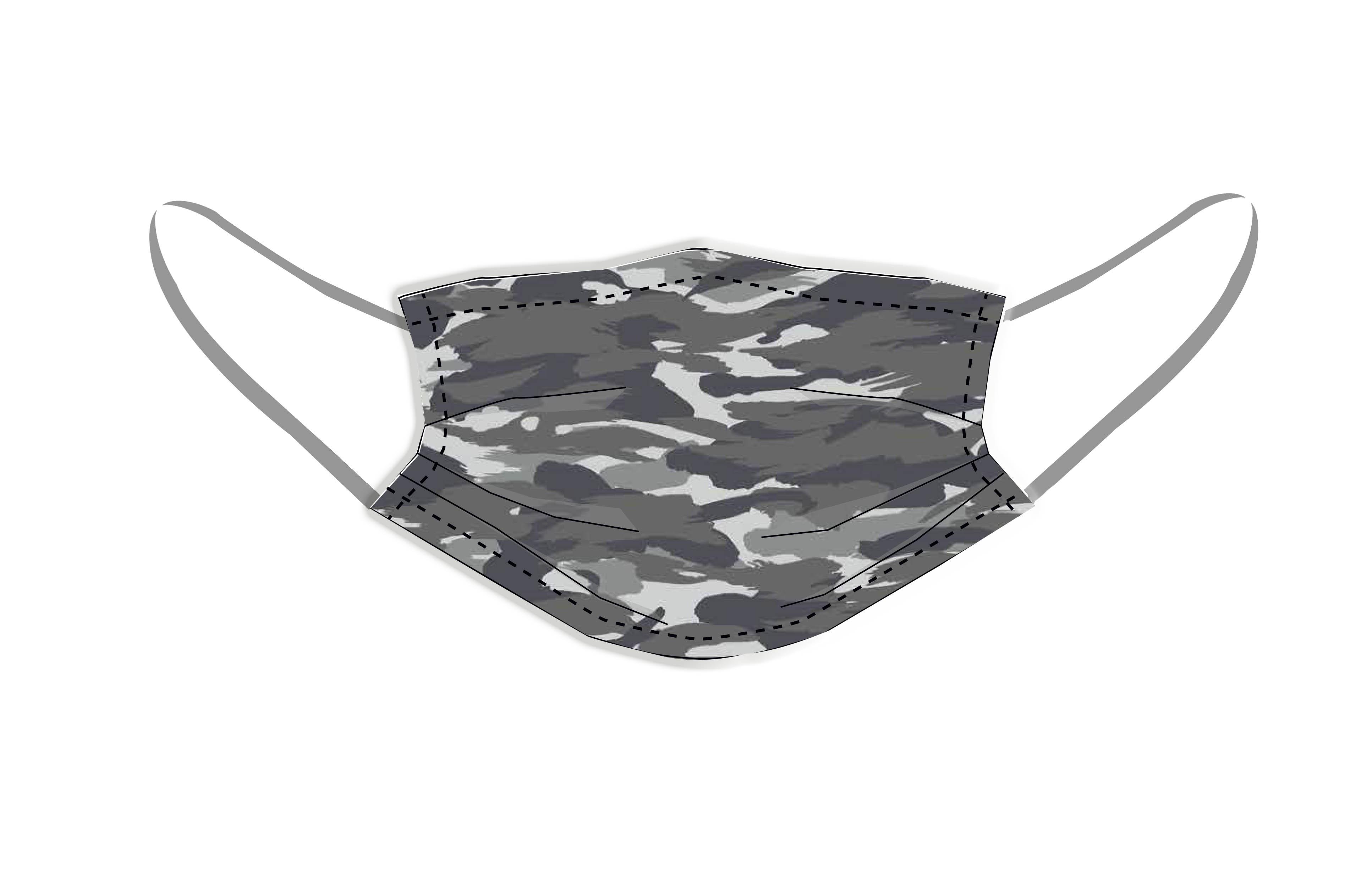 Mascarillas reutilizables higiénicas camuflaje Grey