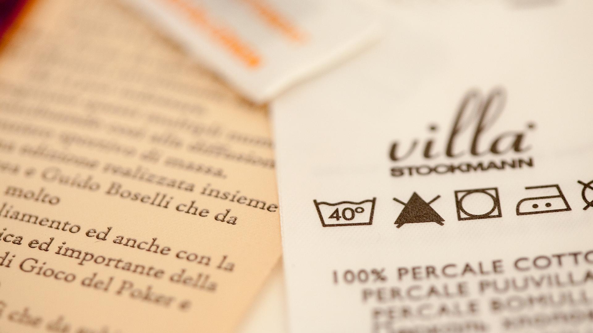 Etiquetas informativas y de composición